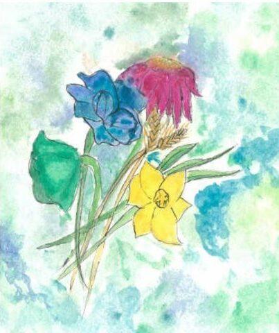Wildflower posy by Renata Kapinos